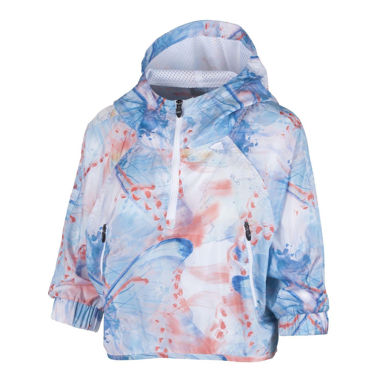 CMP Funktionsoberteil Regenshirt Hoodie blue leicht atmungsaktiv weit