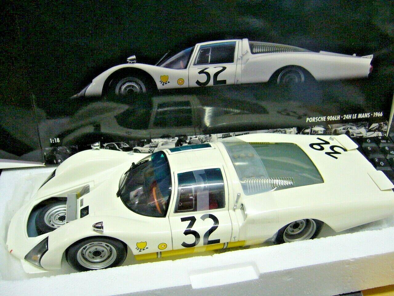 Porsche 906 LH Long Tail Le Mans Contactor V. Klerk 1966 PMA Minichamps 1 18