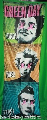 Green Day Uno Dos Tre Billie Joe Fabric Cloth Door Poster Flag Wall Banner-New!!