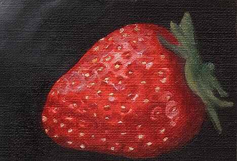 Strawberry love ACEO Limited Edition