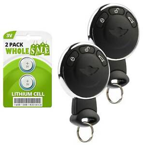 2 Replacement For 2007 2008 2009 2010 Mini Cooper Key Fob Remote