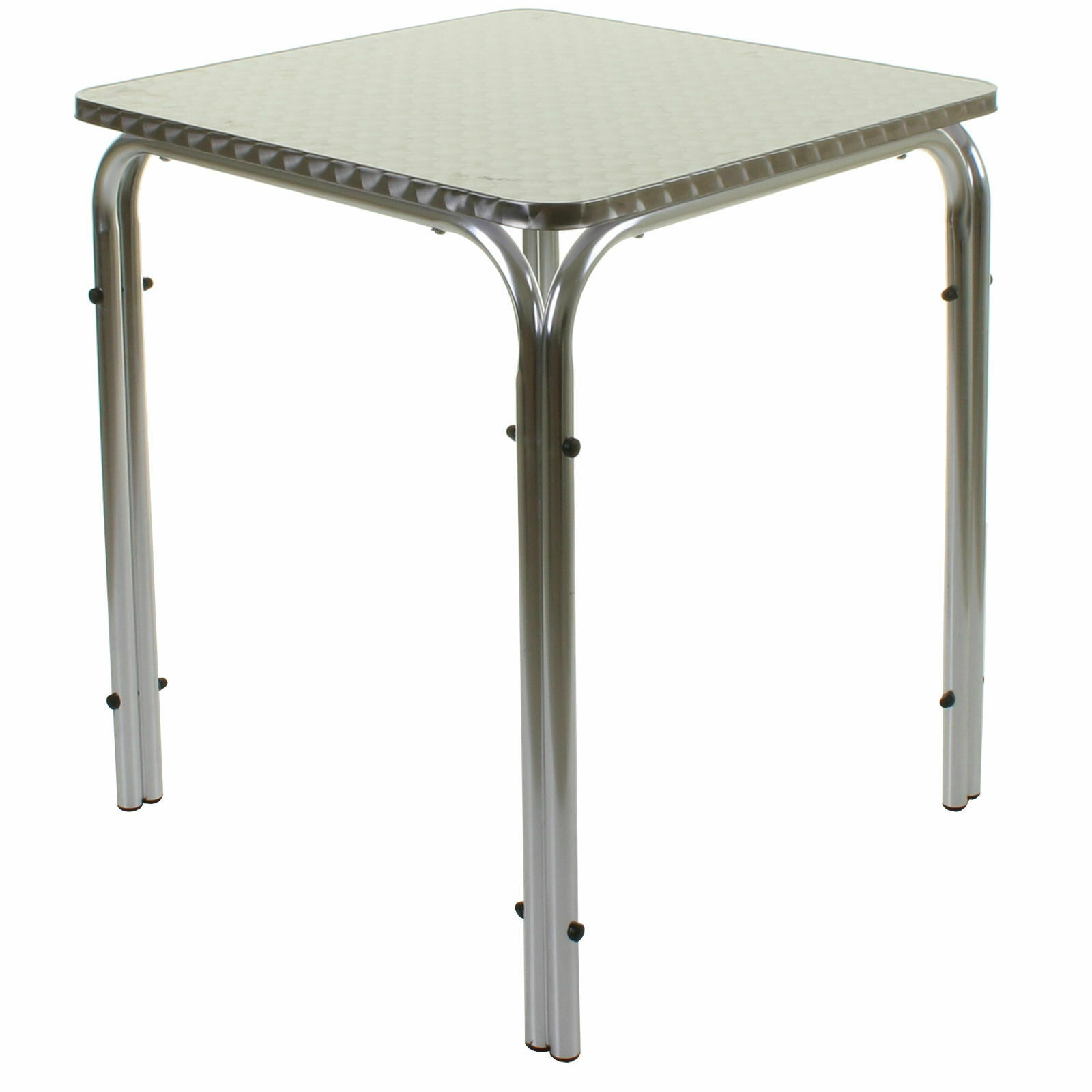 5PC Bistro Set Aluminium Lightweight Chrome Outdoor Garden Patio Furniture Metal
