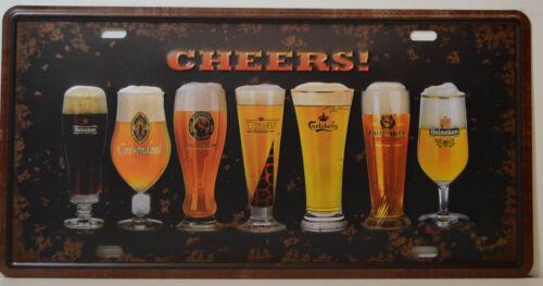Heineken Carlsberg-Blechschild 15,5x30,5 cm BS1156 Biere Beers Cheers!