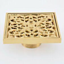 Antique Brass Square Floor Waste Grates Bathroom Shower Drain Floor Drain Zhr026
