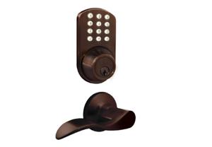 Keyless Entry Deadbolt Lever Handle Door Lock Oil Rubbed Bronze Digital Keypad
