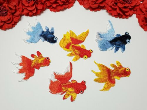 Patches for kids 6pc//set Goldfish patches Iron on Small patches