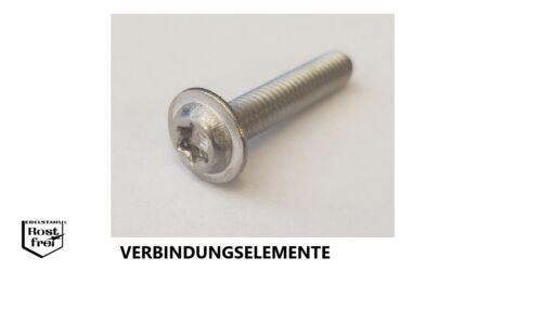Linsenkopfschrauben mit FLANSCH und TORX ISO 7380 EDELSTAHL A2 versandkostenfrei