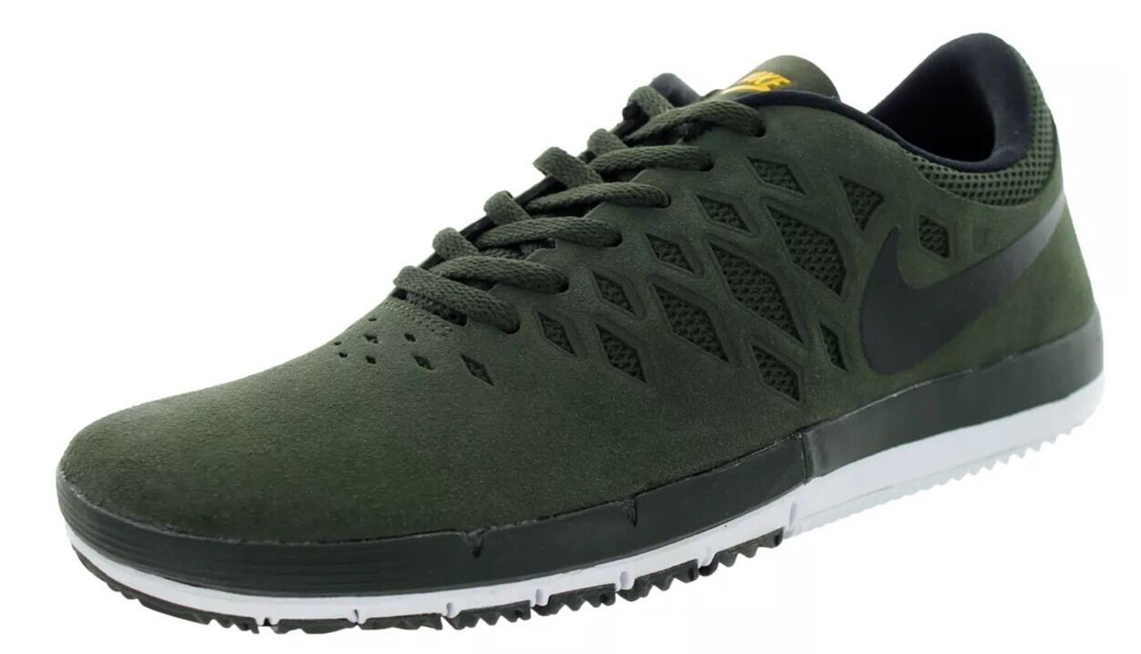 Nike Men's Free SB Skate Shoe SequoiaBlack University Gold 704936-307 SZNEW