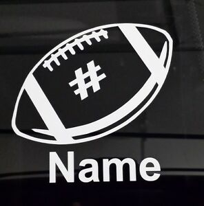 Custom Football Decal With Your Kids Name And Number Vinyl Sticker - Car window custom decals