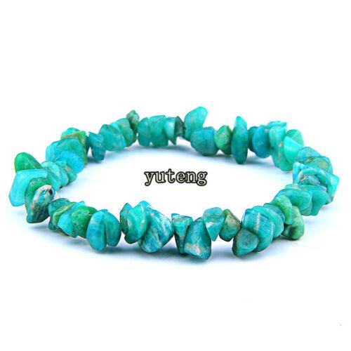 Mixed Natural Stone Irregular Shape Beads Stretchy Bracelet For Women Men