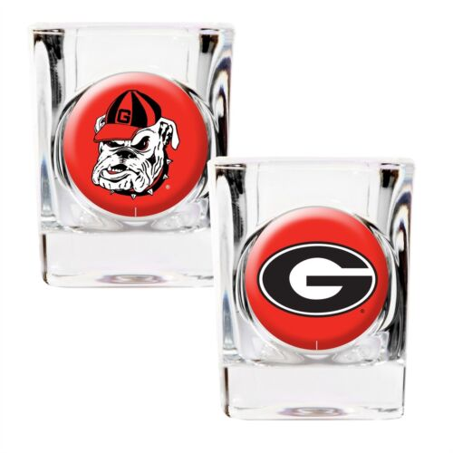 Georgia Bulldogs Shot Glass Gift Set 2-Pack NCAA
