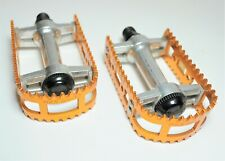 """Vintage bicycle racing pedals 9//16"""" reinforced body chrome NOS"""