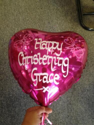 Personalised Helium Foil Balloon Christening