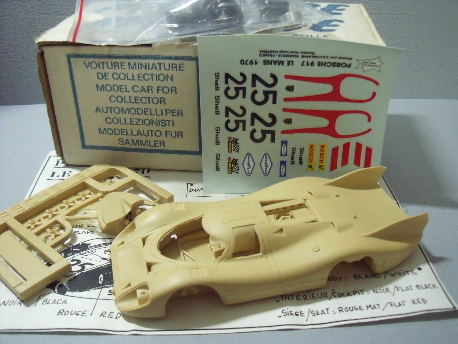 Porsche 917 lh le mans 1970 provence moulage 1 43 no spark