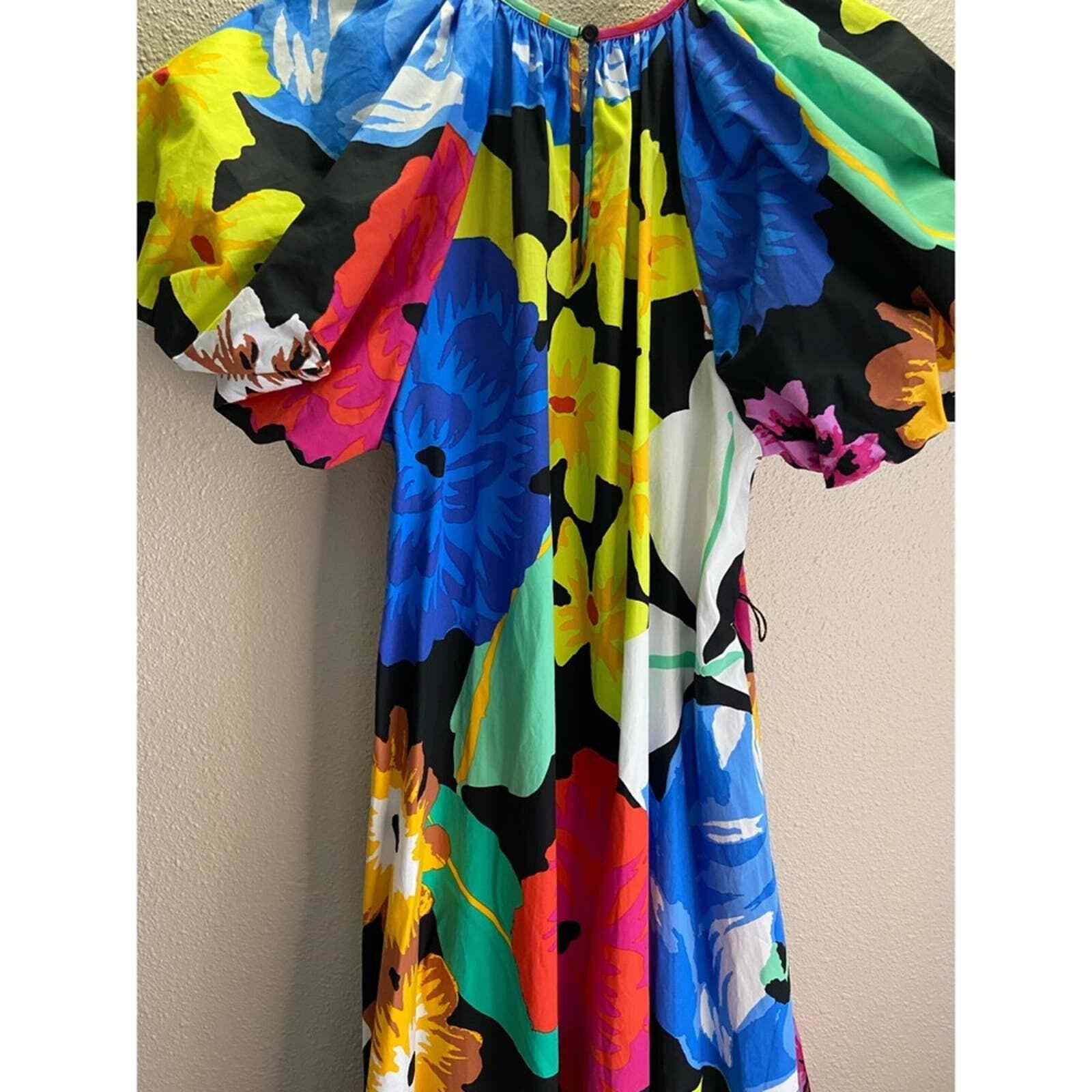 Christopher John Rogers Floral Puff Sleeves Dress - image 5