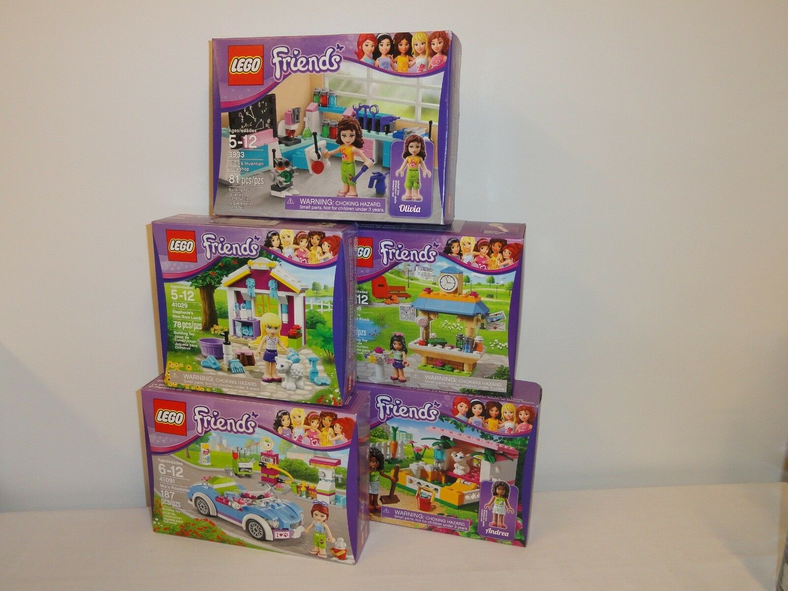 NEW LEGO Friends 41091 41029 41098 3938 3933 Roadster Lamb Bunny Box Sets