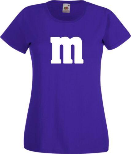 Für M/&M Kostüm Fans MM T-Shirt Karneval Fasching Dart Gruppenkostüm Herren Damen