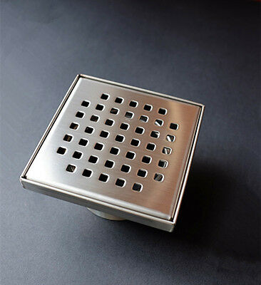 Full Stainless Steel Square Floor Waste Grates Bathroom Shower Drain PO