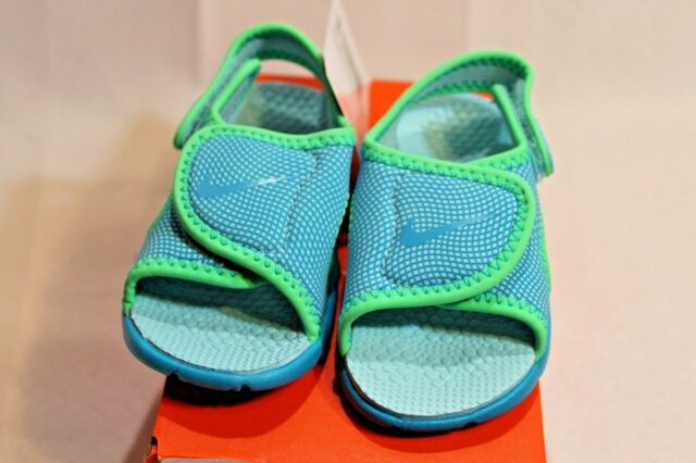 size 40 5ed3f 03cd5 New Infant Toddler Blue green Nike Sunray Adjust 4 athletic sandals shoes