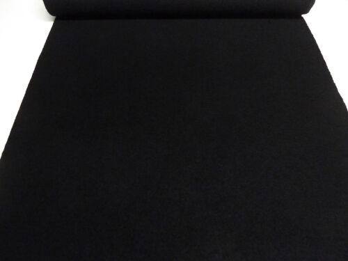 Stoff 100/% Wolle Walkloden Kochwolle uni schwarz Mantelstoff Jackenstoff