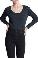 Wrangler Joni Long Sleeve Top Black By Myer