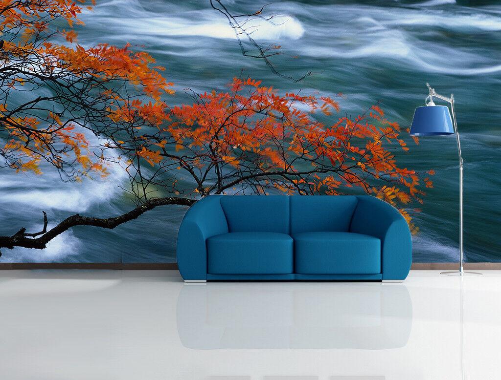 3D Maple River 4022 Wallpaper Murals Wall Print Wallpaper Mural AJ WALL UK Lemon