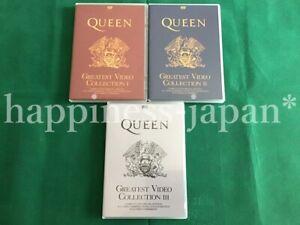Queen-Greatest-Video-Coleccion-Especial-Edition-1-2-3-DVD-6-disco-conjunto-de-prensa-F-S