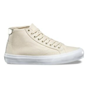 1783b44df7 VANS Court Mid (Canvas) Cloud Cream True White Men s Skate Shoes 9.5 ...