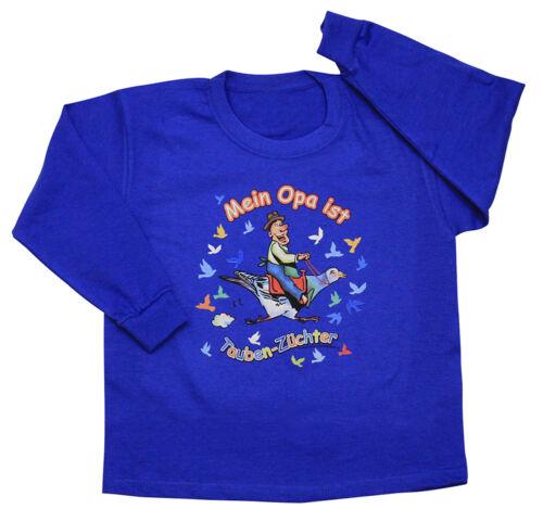 Enfants sweat shirts 104-164 grand-père est pigeons zuechter tb341 royal
