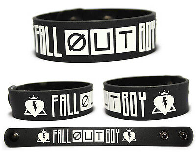 FALL OUT BOY Rubber Bracelet Wristband Folie à Deux Save Rock and Roll