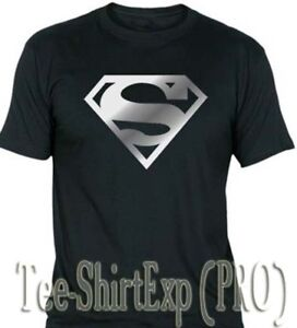 T-Shirt-Superman-Silver-Tee-Shirt-Superman-Silver