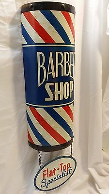 Large 3D BARBER SHOP POLE SIGN Flat-Top Shave Oster Clippers Hair Cut Beautician