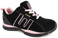 Ladies Safety Trainer Steel Toe Cap Womans Work Hiking Leather Trainers Boots