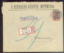 DR 1900 59 R-BRIEF POSTAUFTRAG MITTWEIDA 100€(B0307