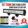 20inch 210W CREE LED Working Light Bar Flood/Spot Combo Beam