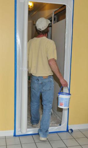 Staubschutztür LDPE 100cm x 215cm Anti-Staub-Türvorhang mit Reißverschluss