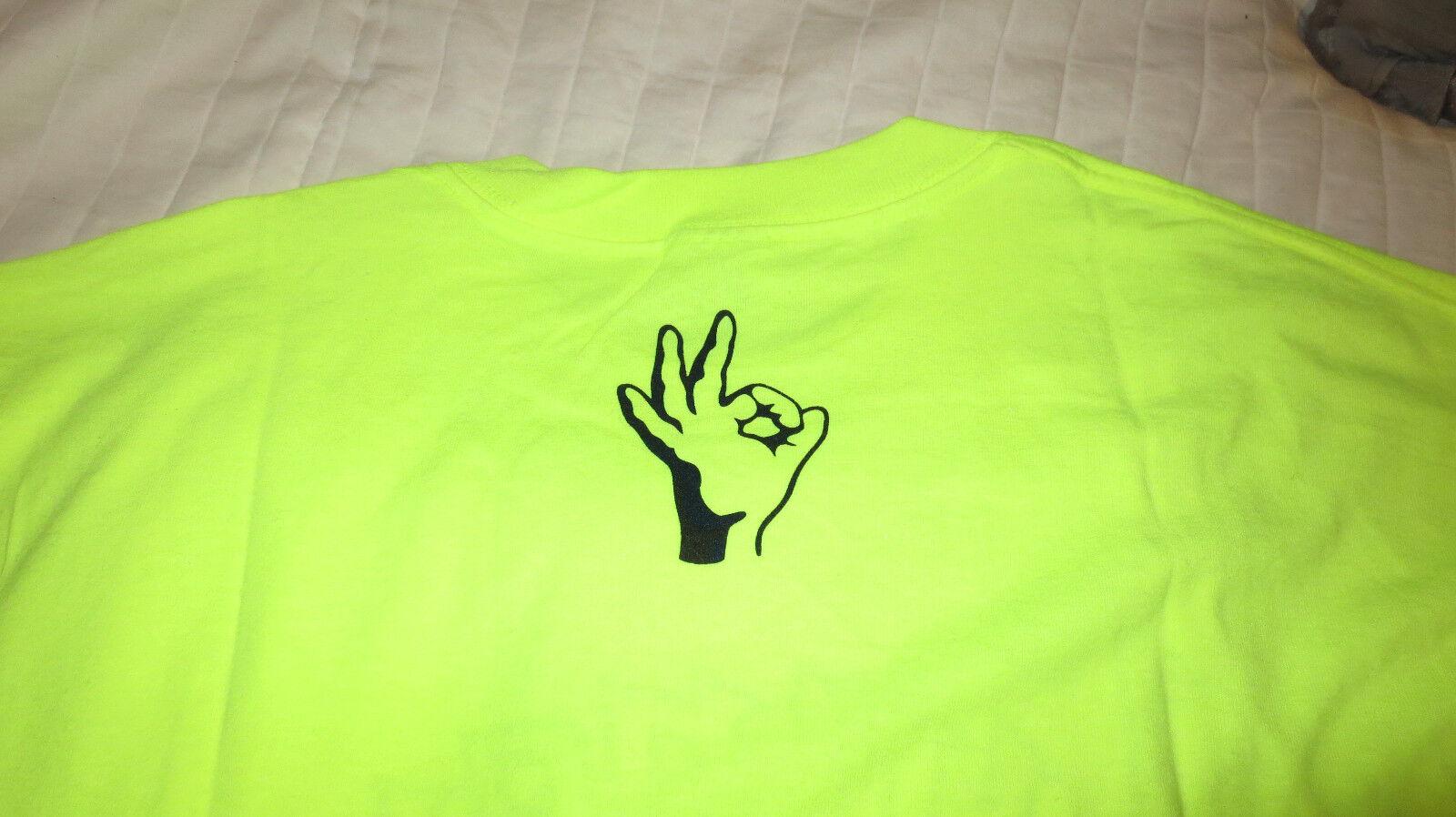 WINNER'S CIRCLE OKAY XL Uomo'S giallo TEE T-SHIRT NEON giallo Uomo'S SKATEBOARDING SHORT SLEEVE f8427f