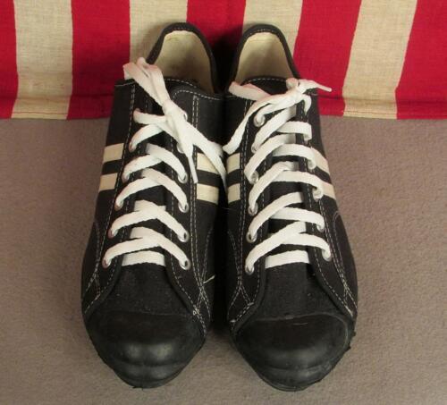 Nera Turf Converse 1980s Atletico 10 Sz Scarpe Sportive Vintage Nos Nuovo Tela w7HqC0wx