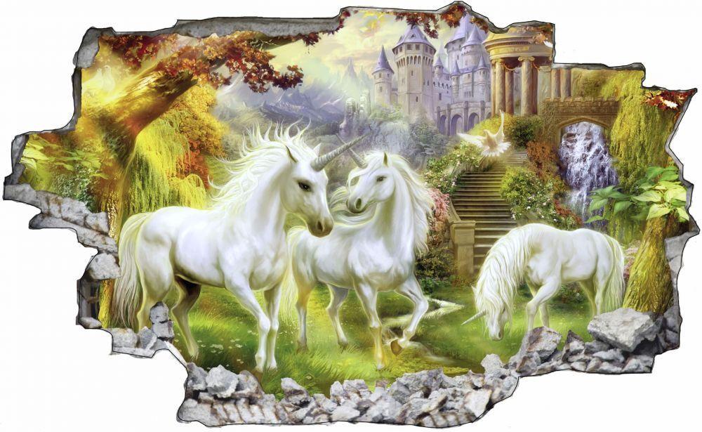 Licornes au paradis créature Sticker imaginaire Licorne Mural Sticker créature Autocollant c0 df319a