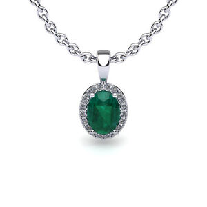 14K-WHITE-GOLD-1-2-CARAT-OVAL-EMERALD-AND-HALO-DIAMOND-NECKLACE-WITH-18-034-CHAIN