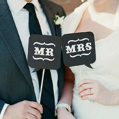 10 Pcs Photo Booth Prop DIY Bubble Speech Chalk Board Wedding Party Props Favors