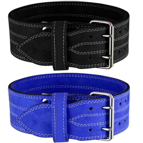 Weight Lifting Nubuck Leather Power Belt Back Support Strap Gym Training