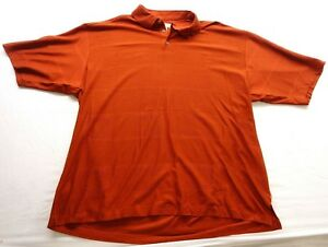 3667209c2 New Tommy Bahama Mens Orange 3-Button Short Sleeve Pique Polo Shirt ...