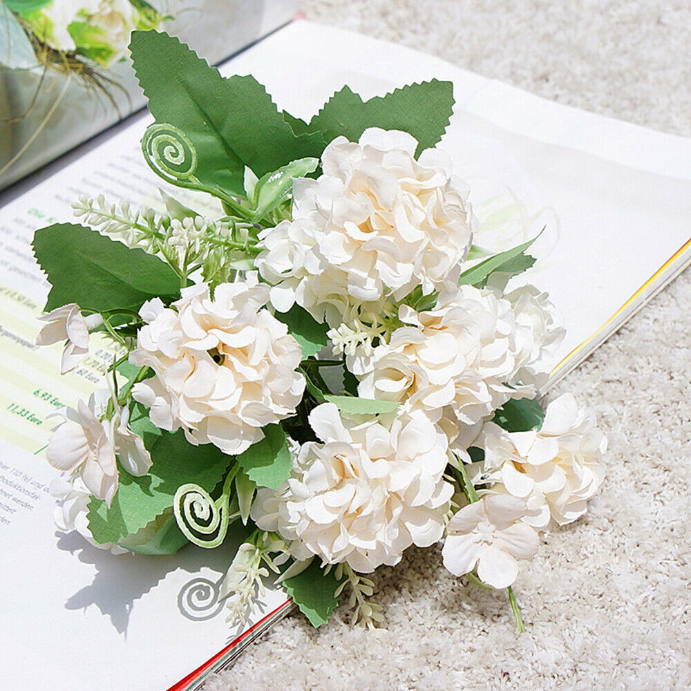 Hot Sale!!Woaills Artificial Fake Flower Small Fresh Grass Bouquet Home Wedding Decor hot pink