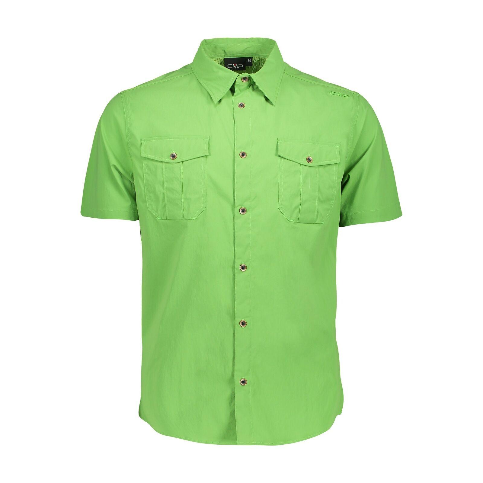 CMP Camicia Man Shirt verde Idrorepellente Traspirante Elastico Antibatterico