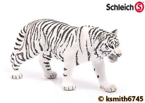 Schleich White Tiger solide Jouet en plastique Wild Zoo Animal Chat Prédateur NOUVEAU *