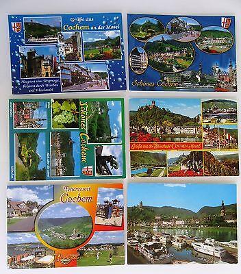 Cochem Mosel Postkarten Lot 6x Color Ansichtskarten Frankiert & Gelaufen