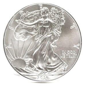 2019 American Eagle 1 Oz Fine Silver Dollar One Ounce