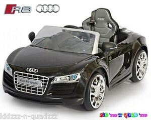 audi r8 spyder 12v voiture electrique enfant 1 5 ans monoplace radiocommande ebay. Black Bedroom Furniture Sets. Home Design Ideas