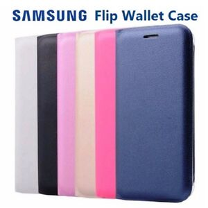 NEW-Official-Samsung-Galaxy-Slim-Flip-Case-Wallet-Leather-PU-Card-Book-Cover